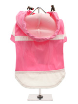 Candy Pink Raincoat - Let it rain, let it rain, let it rain, but no need to worry with this little coat for protection. The adjustable draw string hood will keep the raincoat snug to your pup's face, while the soft lining will keep your dog comfortable and warm. The velcro fastenings make it easy to put on and take off y...