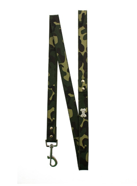 Green Camouflage Diamante Bone Lead