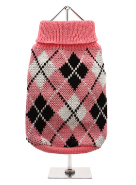Pink & Black Argyle Sweater
