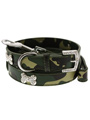 Green Camouflage Diamante Bone Collar & Lead Set