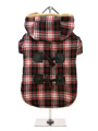 Red / Black Tartan Teddy Bear Duffle Coat